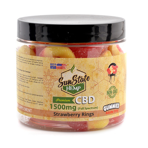 Neon Gummy mg Strawberry Banana Rings