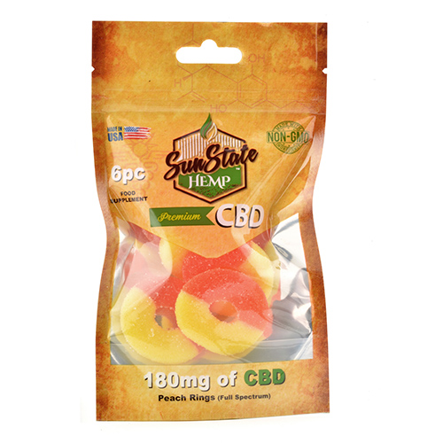 Neon Gummy mg Peach Rings